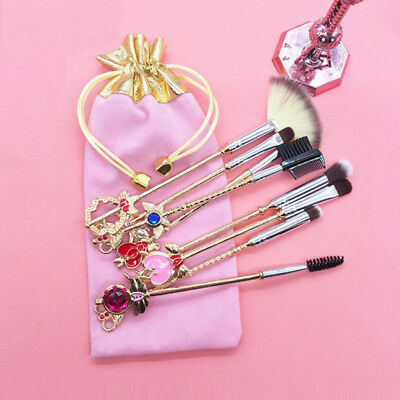 Sailor Moon Card Captor Makeup Brushes Face Powder Eye Blending Wand Brushes New