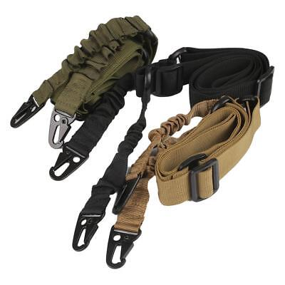 Adjustable Single Point Rifle Sling Bungee Tactical Airsoft Aeg Gun Strap sk2