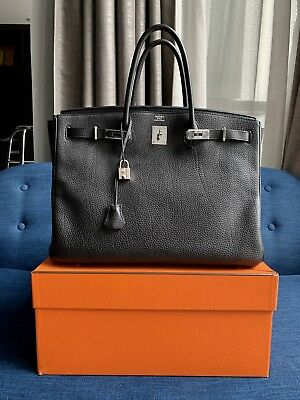 68bad03f0153 PRE OWNED HERMES birkin togo leather In Black With PHW Size 40 ...