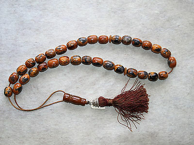 Vintage real antique rare Prayer beads Komboloi Tasbih genuine amber and silver