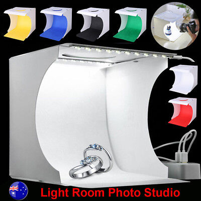 Light Room Photo Photography Studio USB LED Lighting Box Backdrop Cube Tent