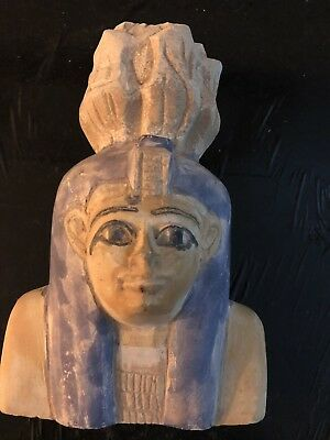 Rare Ancient Egyptian Queen Ahmose-Nefertari  Bust (1562 BC-1495 BC )