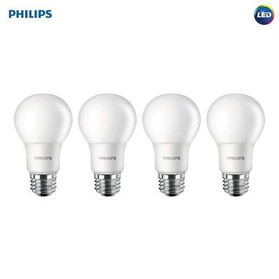 Philips 455717 100W Equivalent A19 LED Daylight Light Bulb, 4-Pack, New, Free Sh
