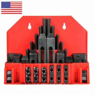 "58 Pc Pro-Series 1/2"" T-Slot Clamping Kit Bridgeport Mill Set Up Set  US"