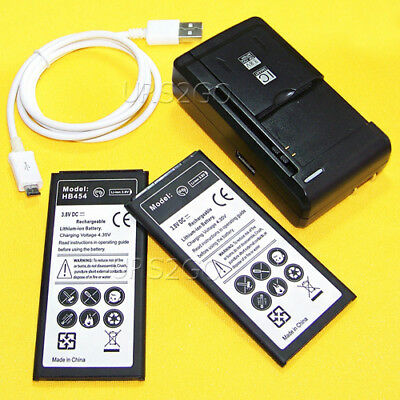 2x 5280mAh Battery+Charger Micro Cable for AT&T Samsung Galaxy Alpha (Long Life)