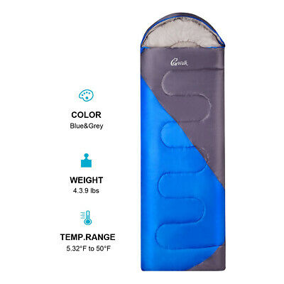 Reusable Envelope Sleeping Bag Lightweight Waterproof Season Camping Hiking