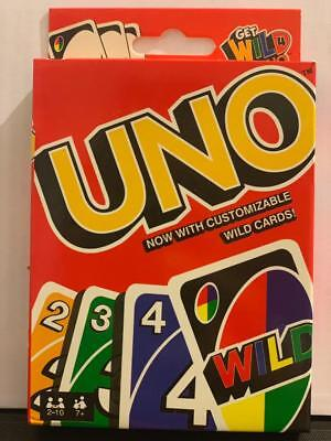 UNO  CARD GAME WITH WILD CARD  - Kids Toy Game - 112 cards 2018 Version