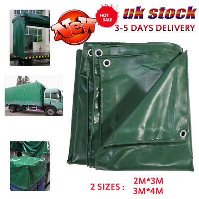 Green EXTRA Heavy Duty 650G PVC Tarpaulin Sheet with Eyelets Waterproof Anti- UV