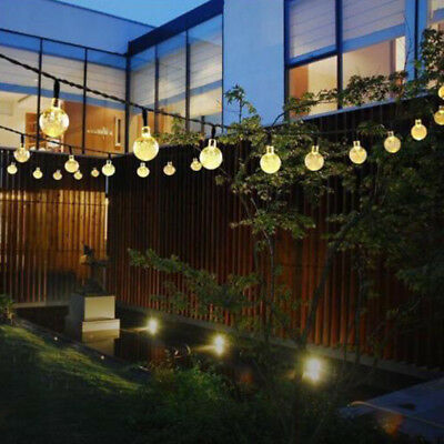 Solar Powered 30 LED String Light Garden Path Yard Decor Lamp Homecube Outdoor L