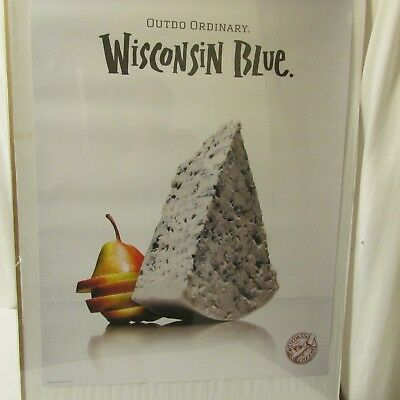 Blue Cheese Wisconsin Milk Dairy Agriculture Advertising Poster 2009
