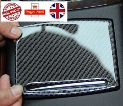 Audi A6 A7 Interior Trim Carbon Fiber Center Cup Water Holder Panel Cover Trim
