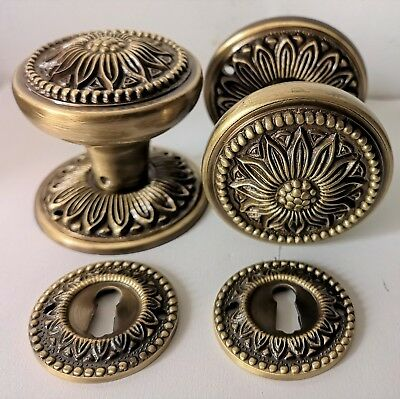 "1 Pair -  ""VINTAGE""  BRASS DOOR KNOBS Victorian Style - HANDLES PULLS  - 60 mm"