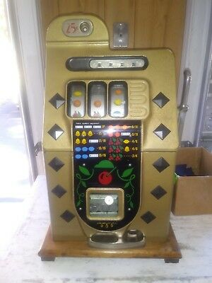 Vintage 1937 Mills 25 Cent Slot Machine
