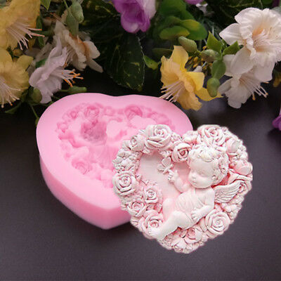 Silicone 3D Sleeping Angle Baby Mold Cookware Dining Bar Cake Baking Tool  AU