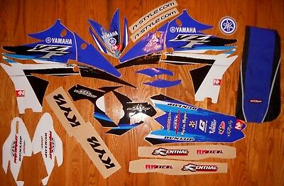 TEAM YAMAHA YZ250F FULL GRAPHICS and SEAT COVER KIT 2010 2011 2012 2013 N40-2612