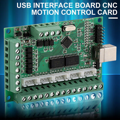 CNC USB MACH3 100Khz Breakout Board 5 Axis Interface Driver Motion Controller UK