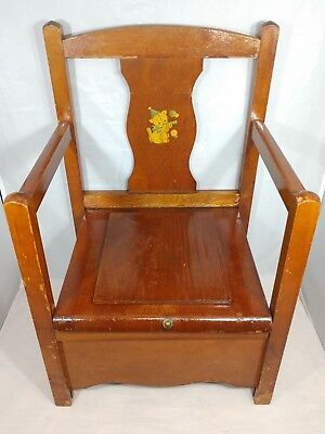 Antique Children's Furniture Corp Wooden Child's Potty Chair/commode