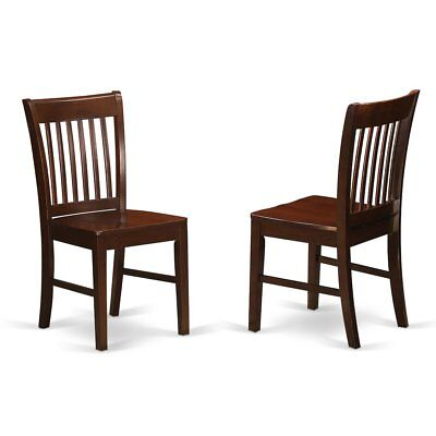 Norfolk  kitchen  dining  chair  with  Wood  Seat    -Mahogany  Finish., ...