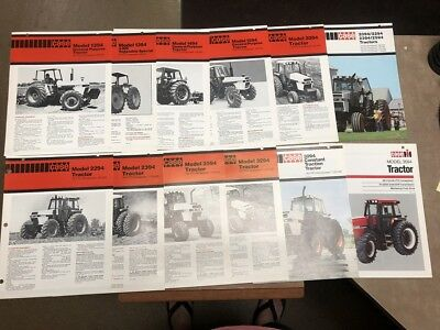 Lot of 12 Case 1394, 1594, 2094, 2294, 2394 and more Tractor Sales Brochure