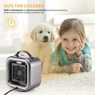 Portable Oscillating Mini Space Heater 650W/1000W Heater Air Warmer Home Office