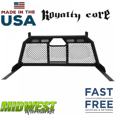 Royalty Core Standard Height Headache Rack W/ Taillights 2017-18 Ford F250 F350