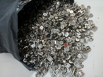 & Bag of 5Kg Mixed Small Metal Buttons Round Square Cord Toggles Joblot 12,17