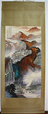 Excellent Chinese Hand-Painted Painting&Scroll Splash Color By Zhang Daqian AL10