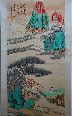Excellent Chinese 100% Hand Painting & Scroll Landscape By Zhang Daqian 张大千 WED9