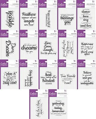 Crafters Companion - Inspirational Sayings -  Unmounted Acrylic Stamps