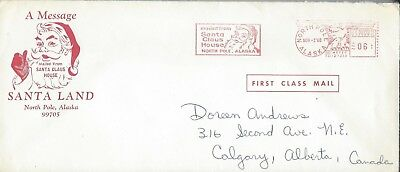 1968 A Message From Santa Land, North Pole, Alaska cover and letter