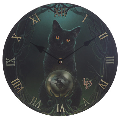 Rise Of The Witches Wall Clock By Lisa Parker Gothic Wicca Pagan Black Cat