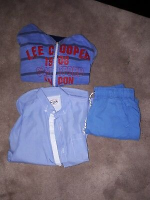 BOYS SMART NEXT  SHIRT /HOODY / SHORTS AGE  7/8 worn ONCE