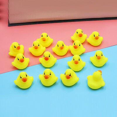 10 Pcs/Set Baby Bath Toy Set Squeeze Duck Floating Water Bathing Yellow Ducks