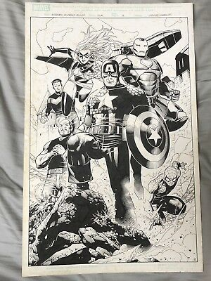 Jim Cheung Avengers Children's Crusade #4 Page 12 Original Art 11x17 Signed