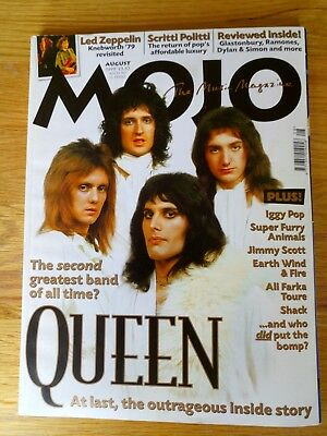 MOJO Magazine August 1999 Issue 69 - main feature on QUEEN