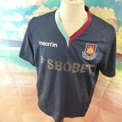 "West Ham United 2012 away Football Shirt. 22"" pit-to-pit, 26"" length, XL"