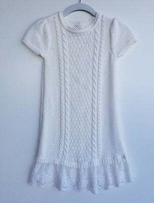 a61631dbed6 THE CHILDRENS PLACE Girls Cable Knit Sweater Dress Ivory Lace Tulle Medium  7 8