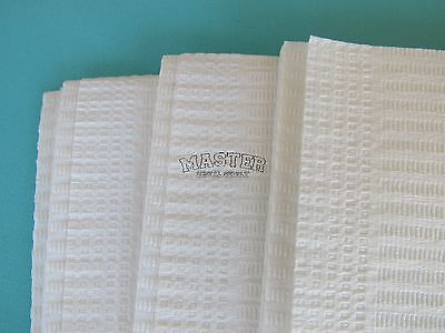 "100 Disposable Patient Bib WHITE Dental Tattoo Medical Spa Towel 2+1 Ply 13""x18"""