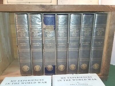 """HTF """"Source Records of the Great War"""" & Pershings """"My Experiences"""" WWI 1914-1918"""