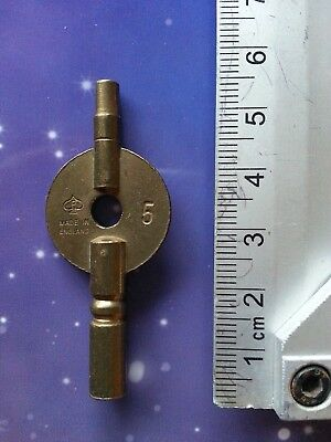 Size 4 Antique Vintage Clock Winding Key Mantle Grandfather Retro Steampunk