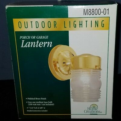 Home Creations Outdoor Lighting Porch or Garage Lantern NIB! (#GT4-2)