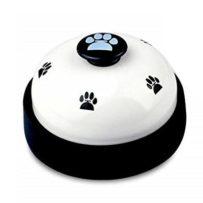Pet Cat Puppy Bell Meal Potty Training Dog Footprint Communication Device 1Pc