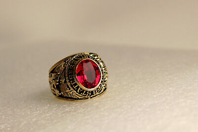 Vintage Sterling Silver United States Marine Corps 1775 Tun Tavern  Ring