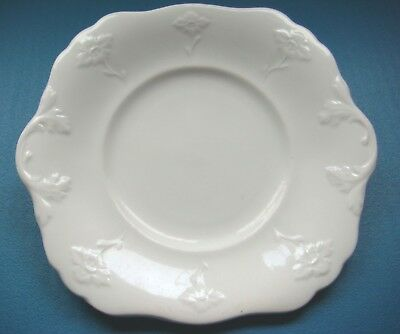 White Ironstone Cookie Serving Plate