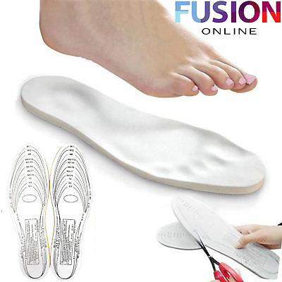 Memory Foam Shoe Insoles Inserts Work Boots Arch Foot Support Heel Cut To Size