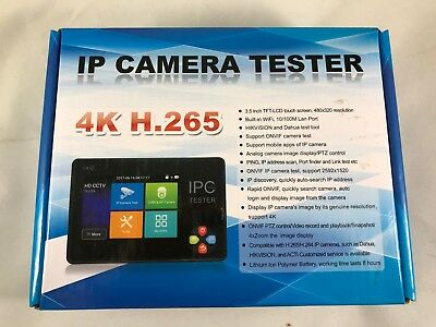 IP Camera Tester 3.5 inch HD Capacitive Touch Screen CCTV Tester with 4K H.265