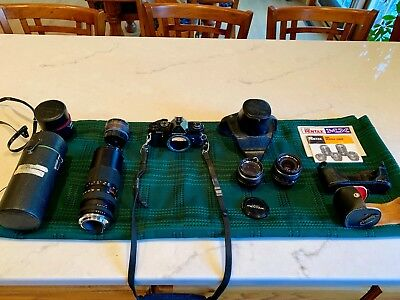 Asahi Pentax MX 35mm SLR Vintage Camera With Bayonet Mount Lenses