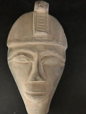 Rare Ancient Egyptian  Akhenaton Stone Mask(1336 Bc-1324)