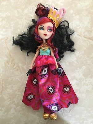 """Monster High 11"""" Doll EVER AFTER LIZZIE HEARTS QUEEN WAY TOO TO WONDERLAND"""