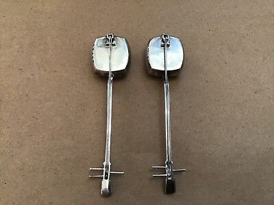 Vintage Japanese  Guitar Sterling Silver Salt & Pepper Shakers Shamisen